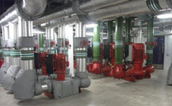 Interior view of a central plant at a Glaxo-Smithkline facility